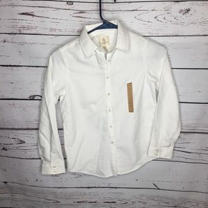 Boys 8 white dress shirt lands End